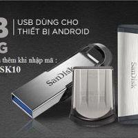 Tặng mã giảm giá thêm 10 % khi mua USB Sandisk trên Lazada