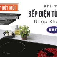 Tặng máy hút mùi khi mua Bếp điện từ đôi KAFF nhập khẩu Đức
