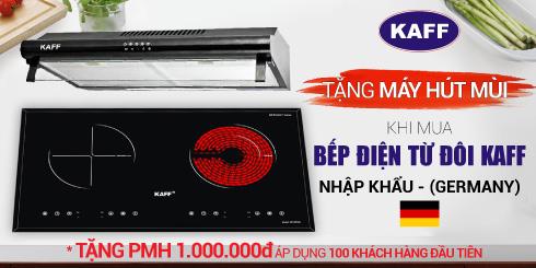 [Nhận mã ưu đãi] Mua bếp điện từ KAFF nhập khẩu Đức (Germany), tặng bộ nhà bếp trọn bộ.