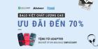 Balo Việt chất lượng cao ưu đãi đến 70% giá trị