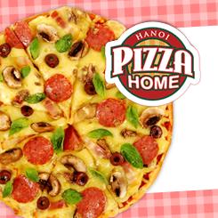 Pizza Home tặng voucher giảm 200.000 đồng bánh pizza khổng lồ