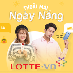Lotte.vn tặng mã giảm giá 7% cho tất cả các sản phẩm