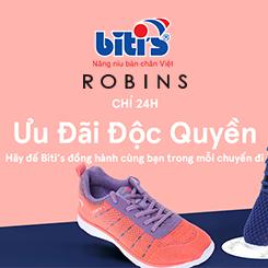Robins giảm thêm 15% cho mỗi số sản phẩm của Biti's