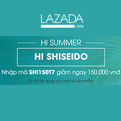 Lazada giảm ngay 150.000 VND khi mua sản phẩm của Shiseido