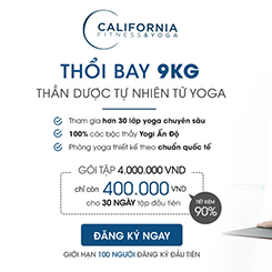 Tập Yoga tại trung tâm California Fitness & Yoga chỉ với giá 400.000 VNĐ