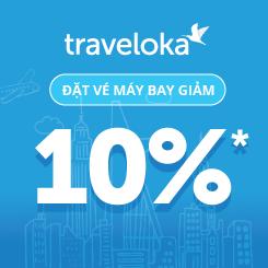 Giảm ngay 10% giá vé máy bay khi đặt trên Traveloka