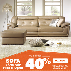 Sofa cao cấp siêu khuyến mãi đến 40% + trên adayroi
